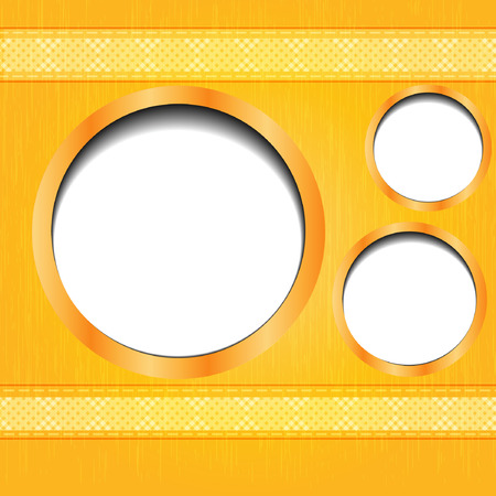 Round frames with golden border