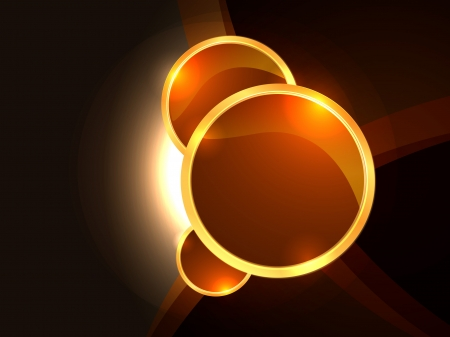 Background with gold circles