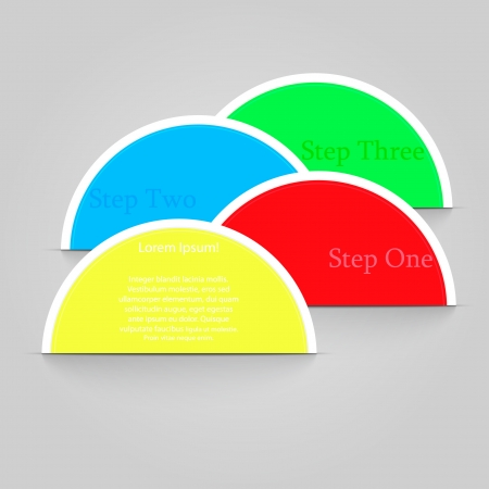 blank badge template illustration - four colors
