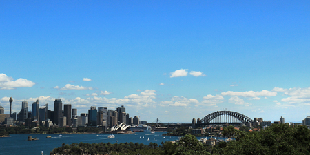 Australian, New South Wales, Sydney opera and Harbor bridge view  Redactioneel