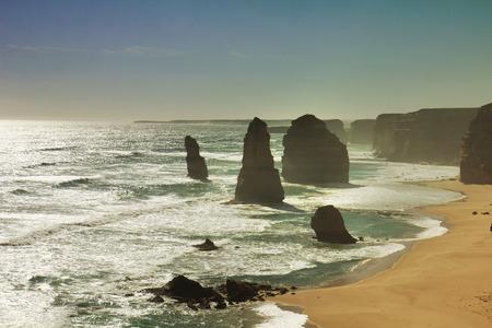Australian, Victoria, Great Ocean Road, Twelve Apostles Stock Photo