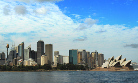 Sydney city center near Sydney opera