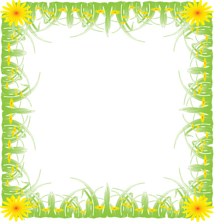 Picture frame, green grass Stock Vector - 6433212