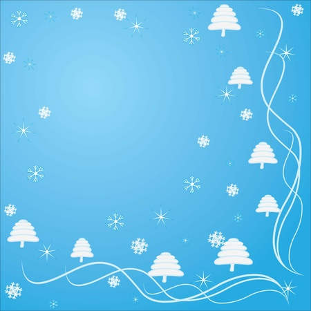 Christmas, congratulations and lots of snowflakes Stock Vector - 8369595