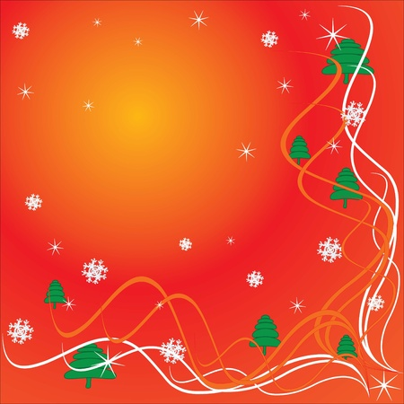 Christmas, congratulations and lots of snowflakes Stock Vector - 8369591