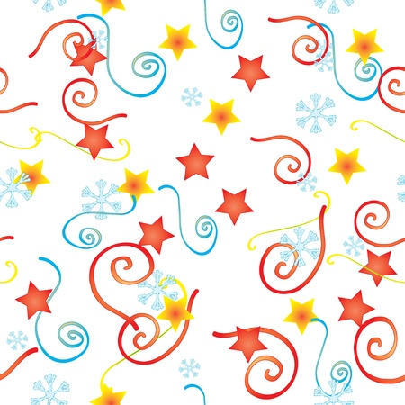Vector available, background Confetti and the stars Stock Vector - 8369593