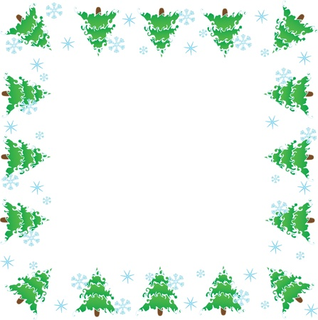 Picture frame.  Christmas trees