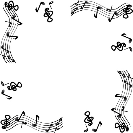Music melody Frame 스톡 콘텐츠 - 9864567