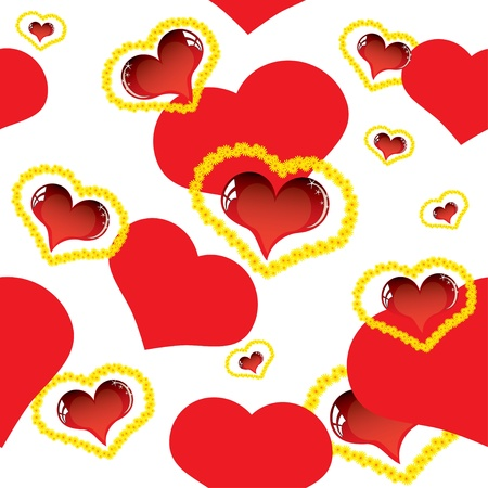Valentine love card with heart