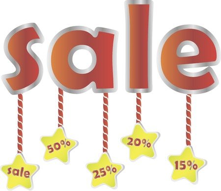 Sale poster with percent discount. Vector illustration Illustration