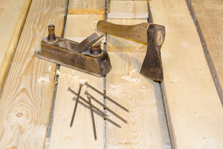 Carpenter Tools Axe Plane and Chisel for Woodworking