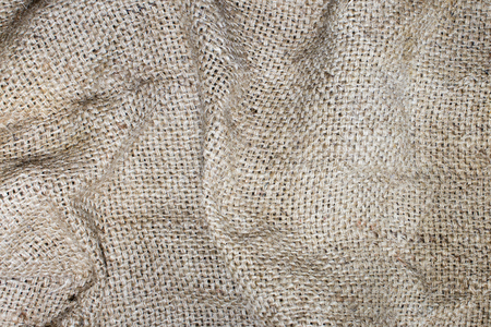 Texture of an old dirty potato sack