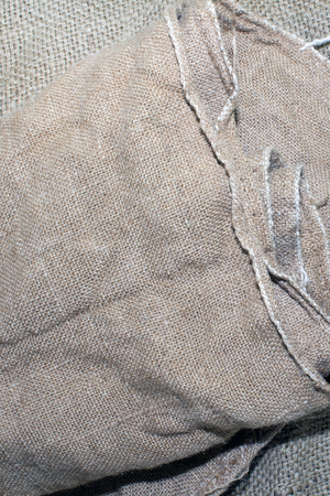 Texture of an old dirty potato sack.