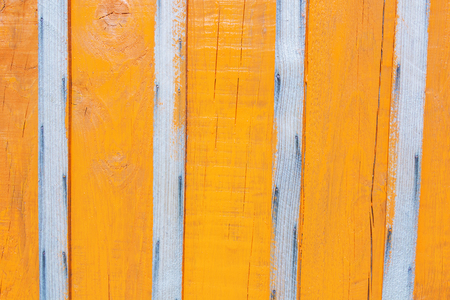The fence in bright orange paint, bright background