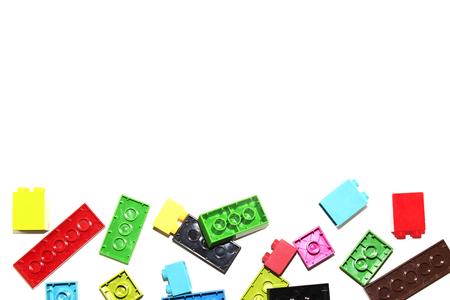 Childrens Designer of the bricks. Stock Photo