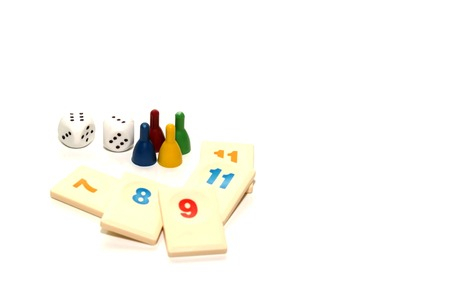 board game play figures and double dices