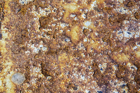 Background and Wallpaper or texture of Old rusty iron plate or Rusty metal surface.