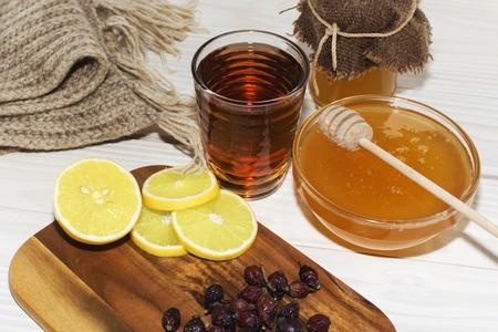 Honey and lemon.the natural medicine, health food