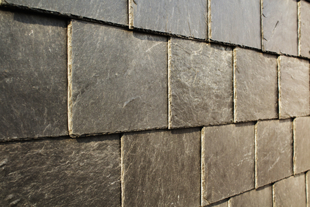 Abstract Detail Of Old Slate Roof Tiles Stock Photo Picture And