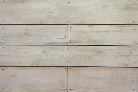 Weiße Holzwand, detaillierte Hintergrundfotobeschaffenheit. Pastellholzplankenzaun nah oben Standard-Bild