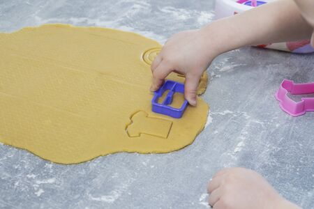 cookies, gingerbread in the form of clothing. Cooking process
