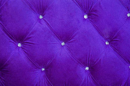 background texture close up fabric with crystal details on furniture fabric without people Standard-Bild
