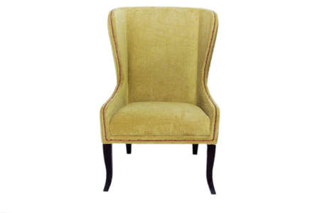 A new chair in the Baroque style, green on a white background Standard-Bild