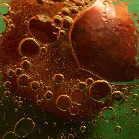 Unique oil bubbles on the water surface. Stok Fotoğraf