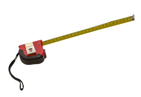 Isolated picture of measuring line that workers use during construction Stock Photo