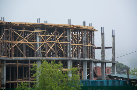 Construction frame at a unfinished house