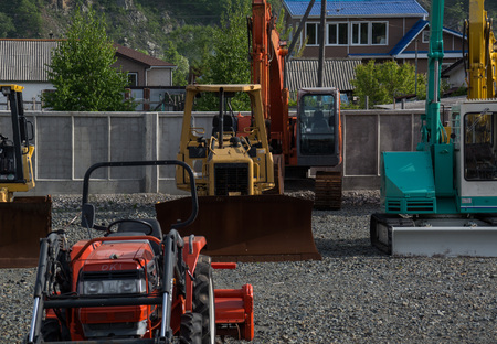 bulldozers: Bulldozers, excavators and other construction equipment