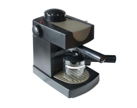 Small and empty black coffee machine