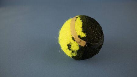 yellow tennis ball absorbs dark matter Stok Fotoğraf