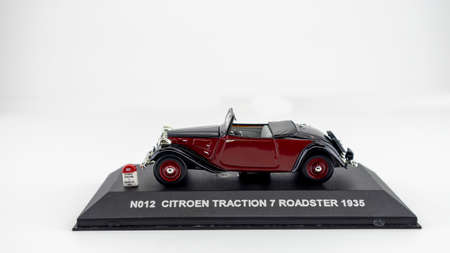 reduced model of a collectible car on a white background Reklamní fotografie