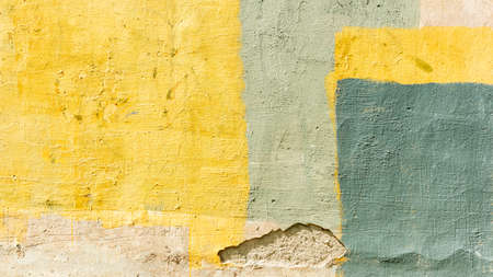 the concrete wall is painted in different colors, backgrounds, textures 版權商用圖片