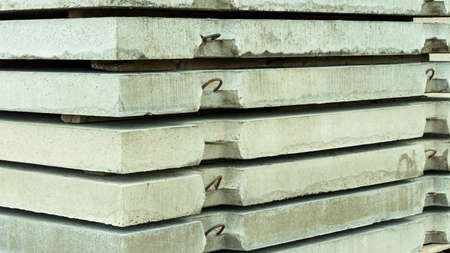 reinforced concrete slabs on the construction site