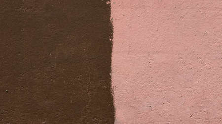 concrete wall painted brown and pink, backgrounds, textures