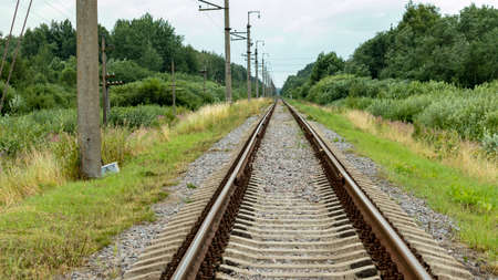 a new straight railway that goes off into the distance