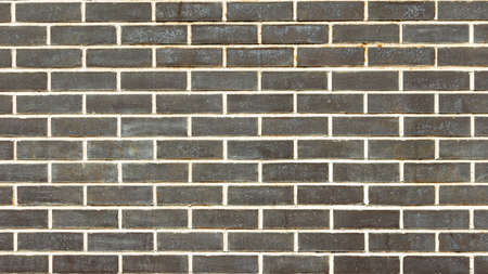 panoramic horizontal wall of brown brick, background, textures Foto de archivo