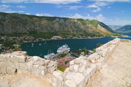 View of Kotor Bay in Montenegro photo