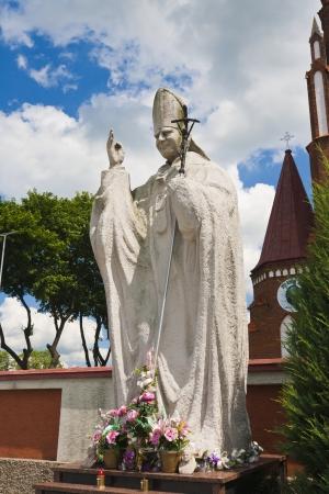Statue of Pope John Paul II - symbol of christians Stock Photo - 14575493