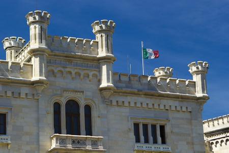 Miramare Castle - Front detail\