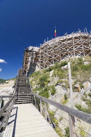 Image of the Deva fortress from Transylvania photo