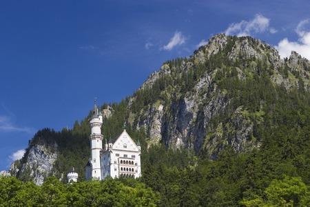 neuschwanstein: Neuschwanstein Castle in Bavarian Alps, Germany Editorial