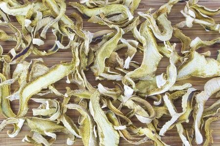 lactarius: Slices of dried mushrooms Lactarius piperatus