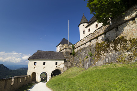 belongs: Old medieval Castle Hochosterwitz in CarinthiaAustria. The castle belongs to the landmarks of Carinthia Editorial