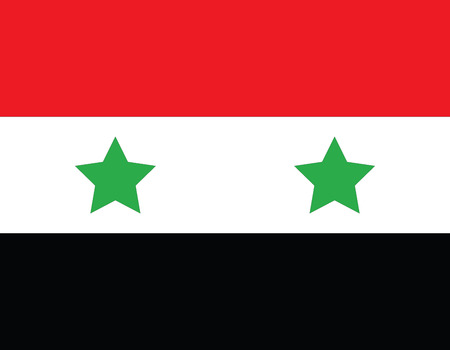 syrian civil war: Flag of Syria, national country symbol illustration