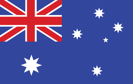 sidney: Original and simple Australia flag isolated vector in official colors