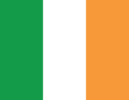 ire: Ireland flag. Vector isolated illustration of