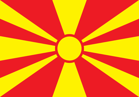 sovereign: Sovereign state flag of country of Macedonia in official colors. Vector illustration